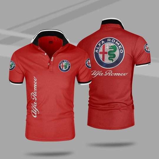 Alfa romeo 3d polo shirt 3 1