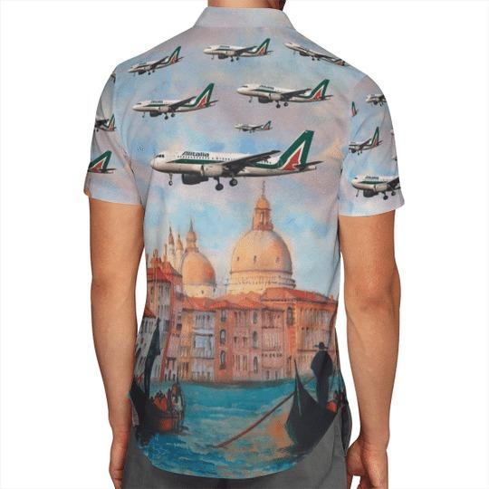 Alitalia airbus A319 100 hawaiian shirt 3