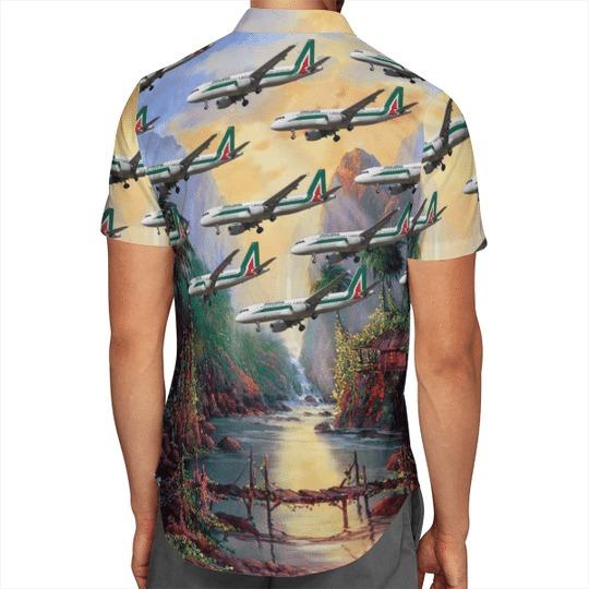 Alitalia airbus A320 200 hawaiian shirt 3