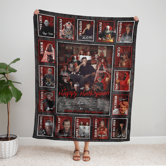 All Stephen King Horror Movies Characters Blanket
