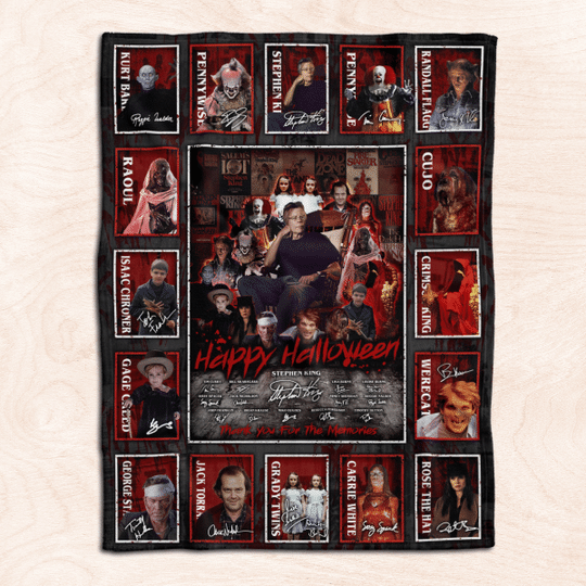 All Stephen King Horror Movies Characters Blanket1