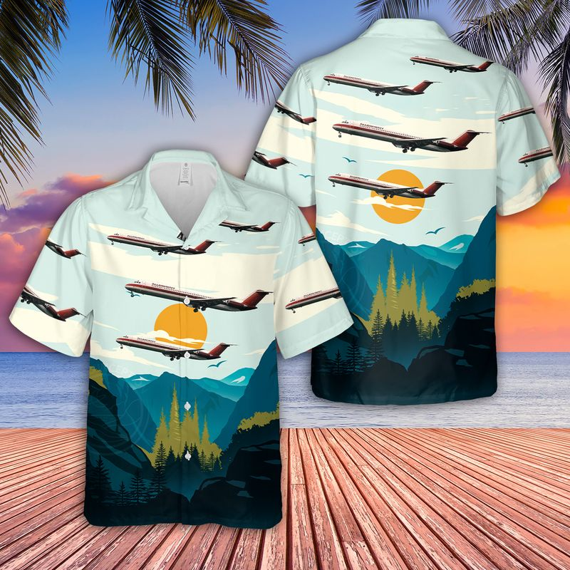 Allegheny Airlines McDonnell Douglas DC 9 51 Hawaiian Shirt 1