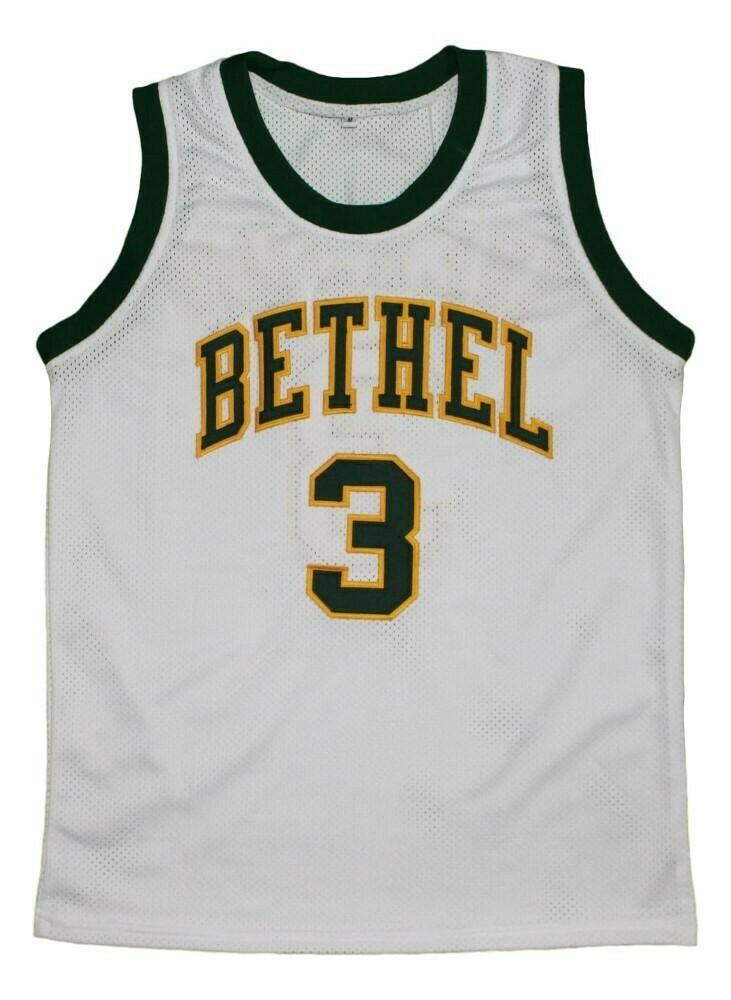Allen Iverson 3 Bethel High School New Basketball Jersey White1