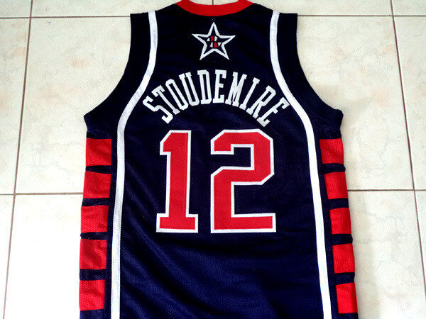 Amare Stoudemire 12 Team USA Basketball Jersey Navy Blue