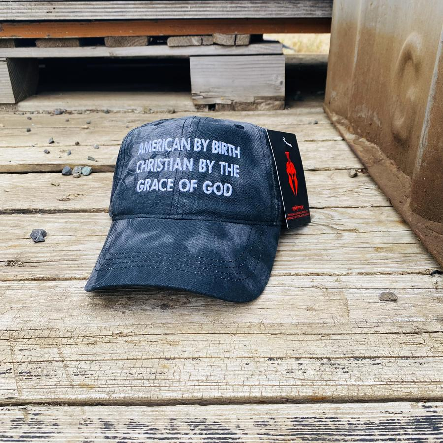 American By Birth Christian By The Grace Of God Hat Cap