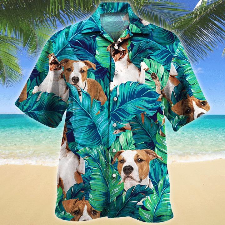 American staffordshire terrier dog hawaiian shirt 1