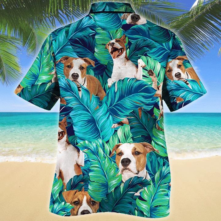 American staffordshire terrier dog hawaiian shirt 2