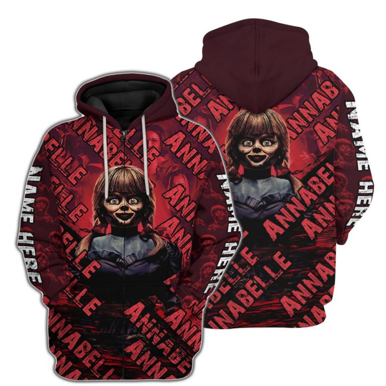 Annabelle 3d all over print hoodie 3