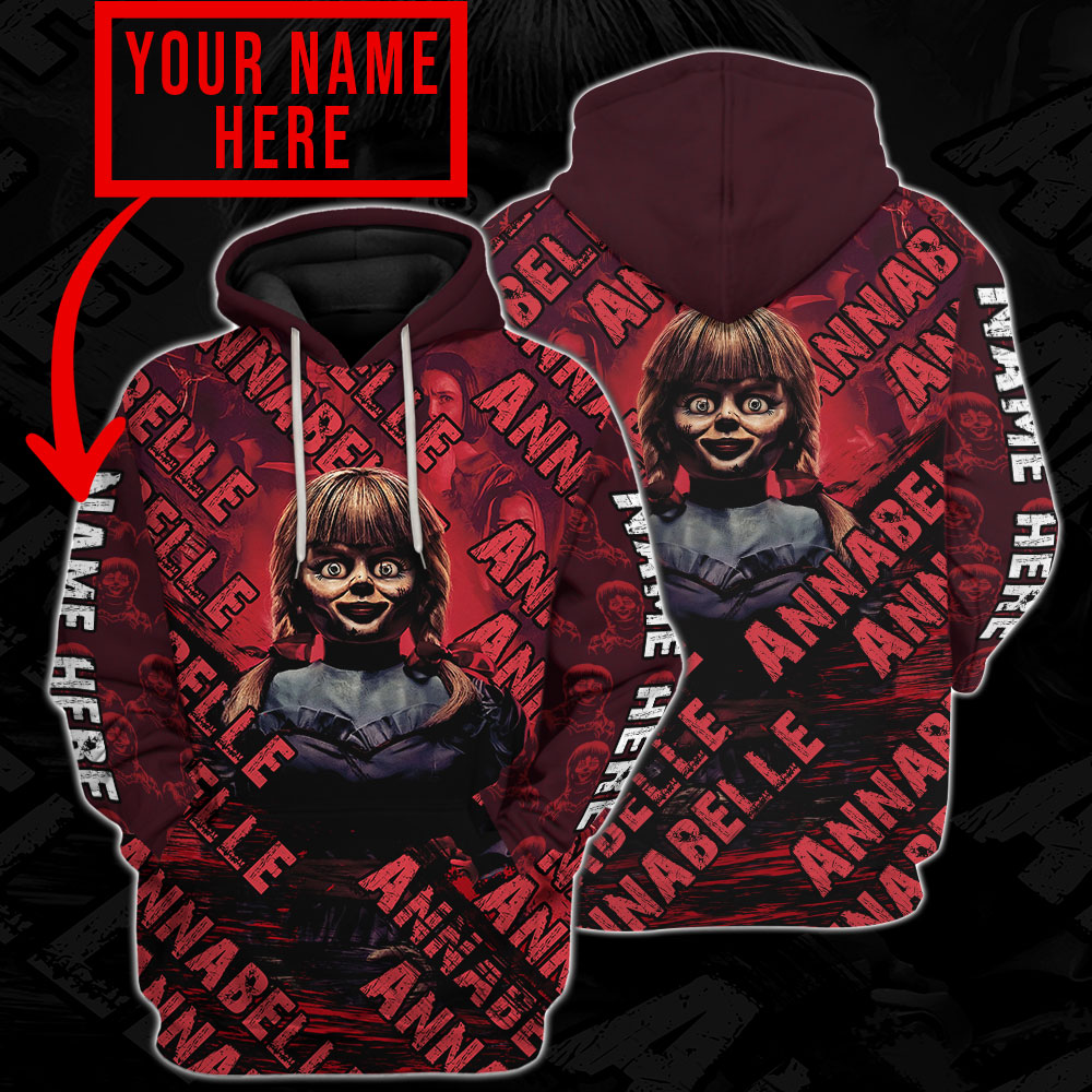 Annabelle 3d all over print hoodie 4