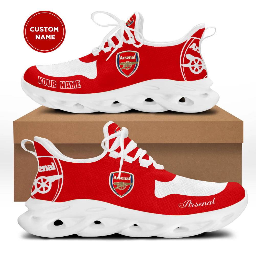 Arsenal custom name yeezy clunky max soul shoes