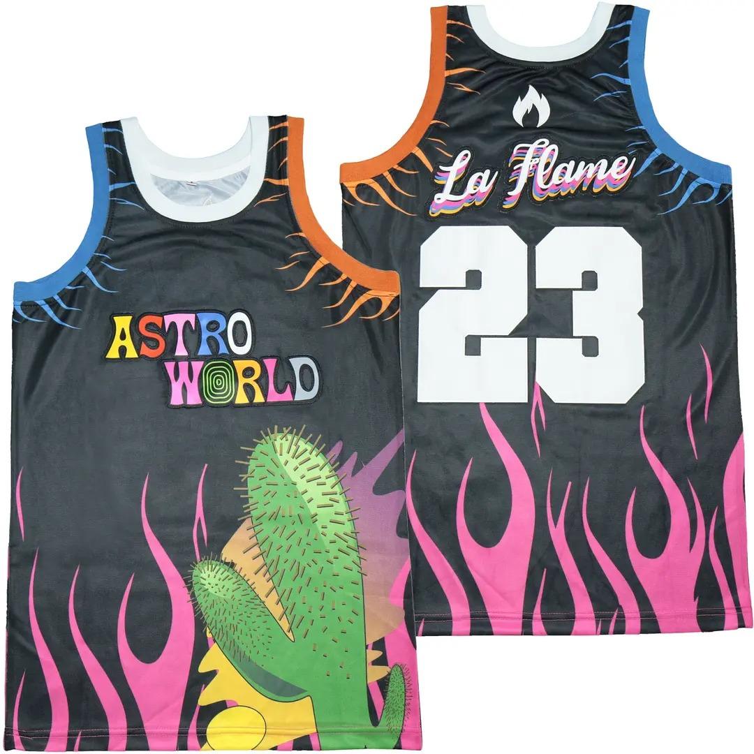 Astro World 23 La Flame Hip Hop Rap Basketball Jersey 1