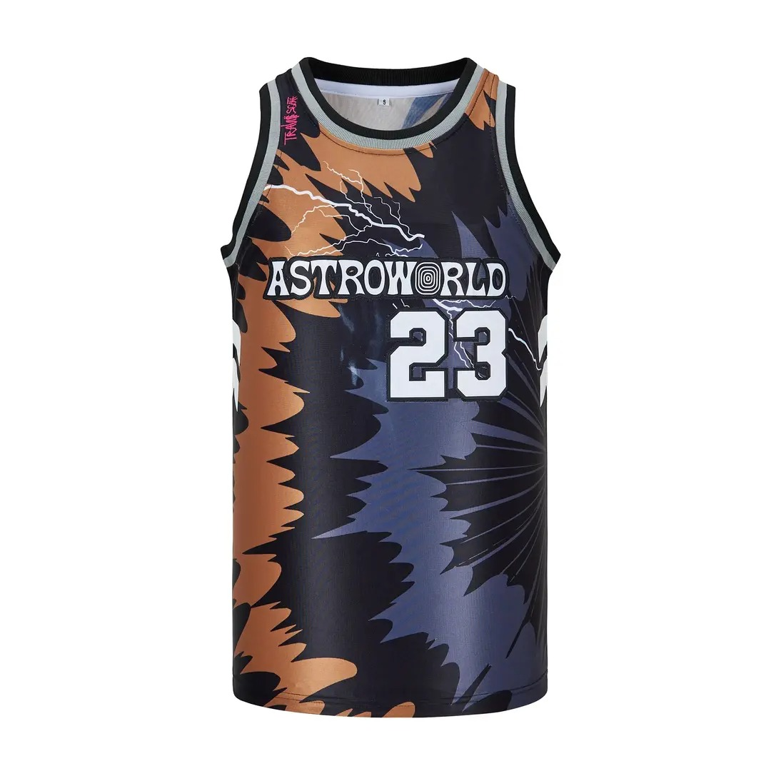 Astro World 23 La Flame Hip Hop Rap Basketball Jersey 3