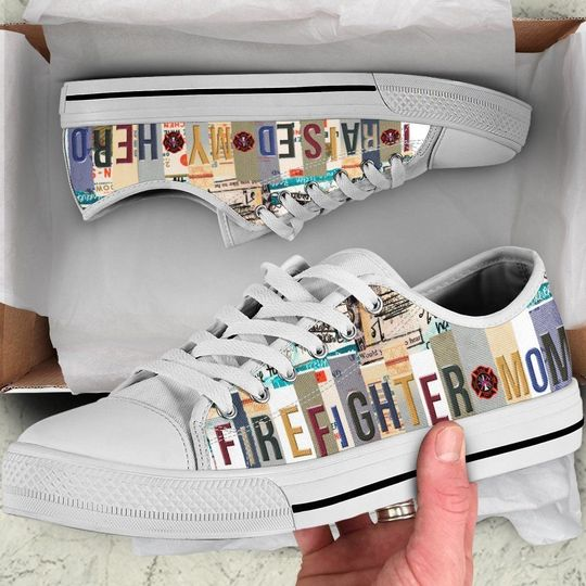 Firefighter mom low top shoes