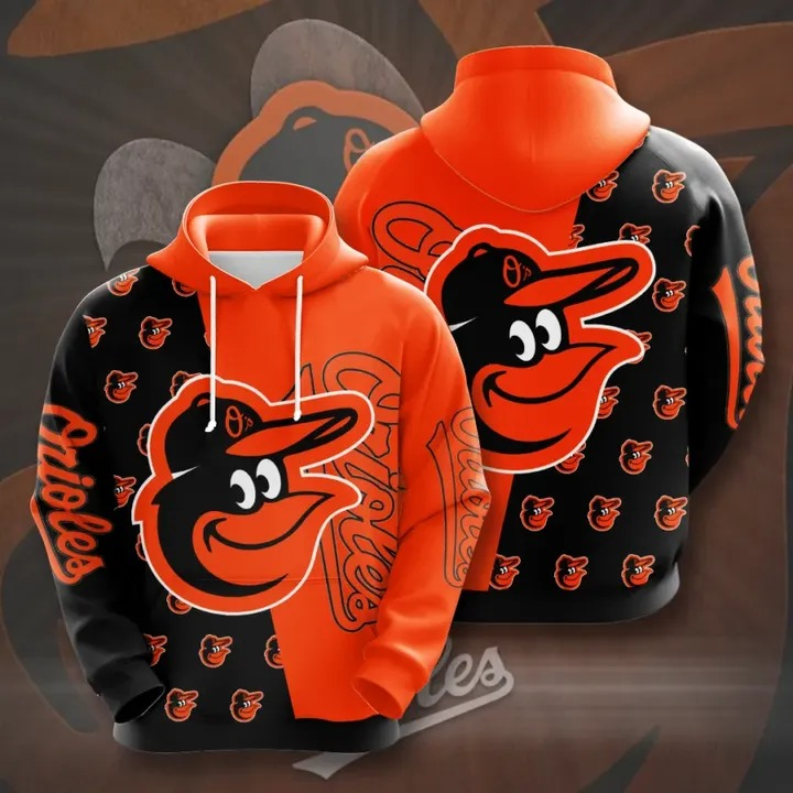 Baltimore orioles 3d over print hoodie 1