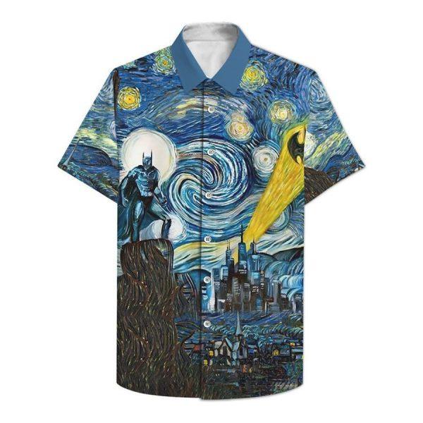 Batman Starry Night Hawaiian Shirt