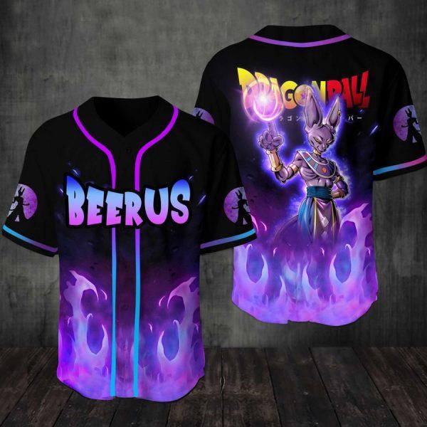 Beerus Dragon ball Baseball Jersey Shirt