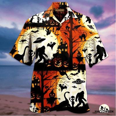 Bigfoot Halloween Hawaiian Shirt