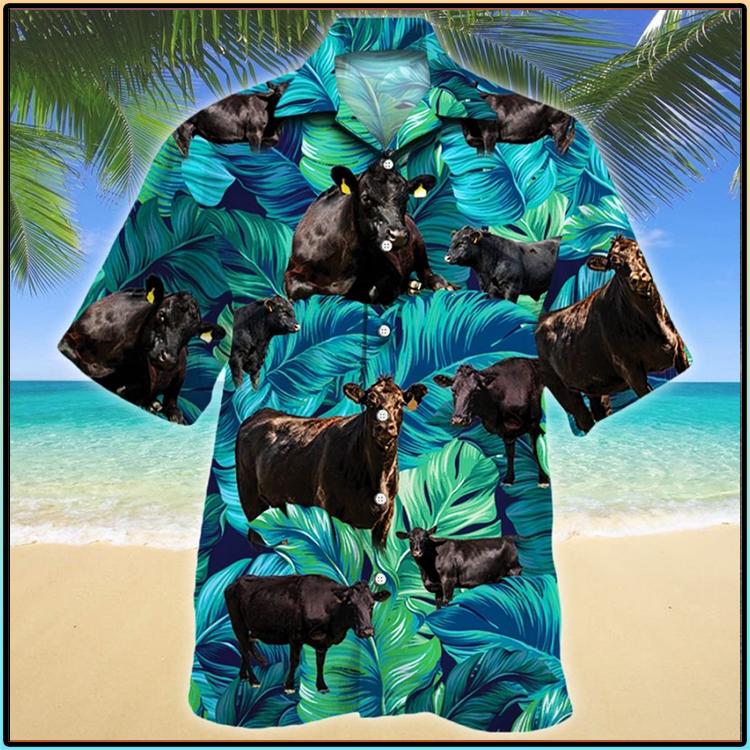 Black Angus Cattle Lovers Hawaiian Shirt2