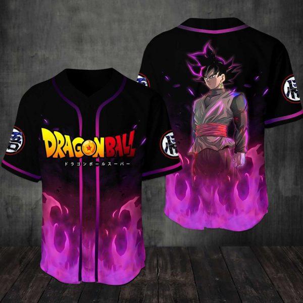 Black Goku Dragon ball Baseball Jersey Shirt