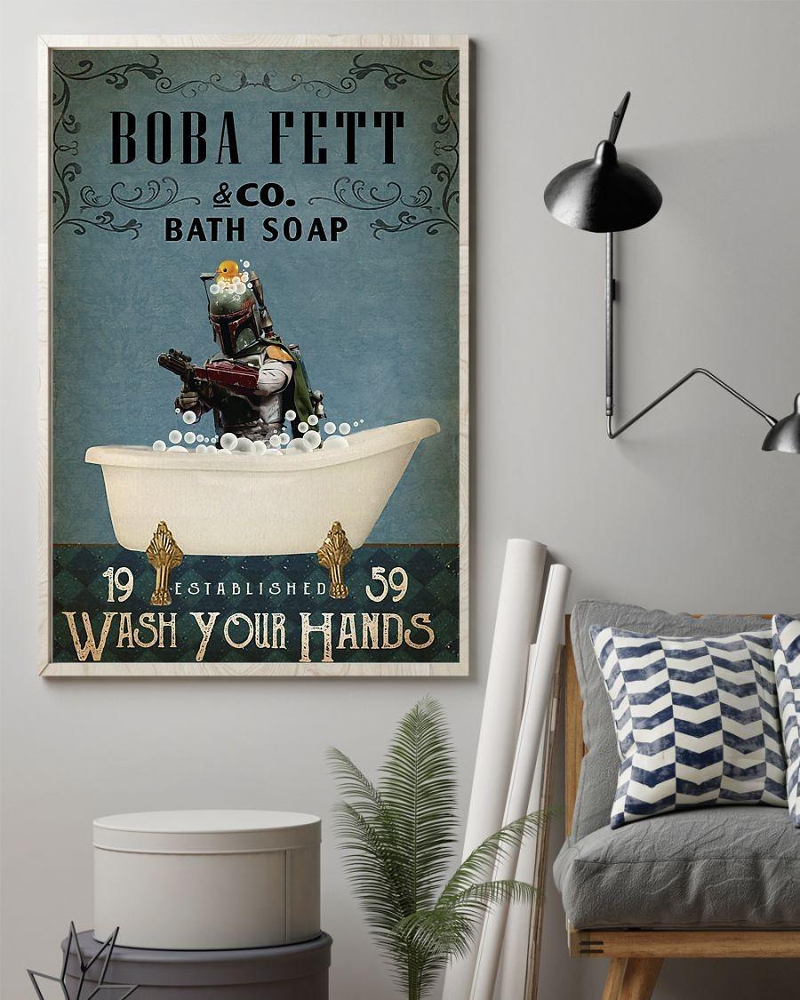 Boba fett co bath soap poster