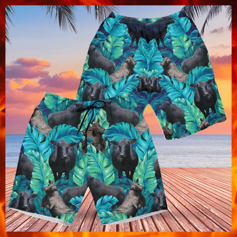 Brangus cattle Hawaiian shorts 1