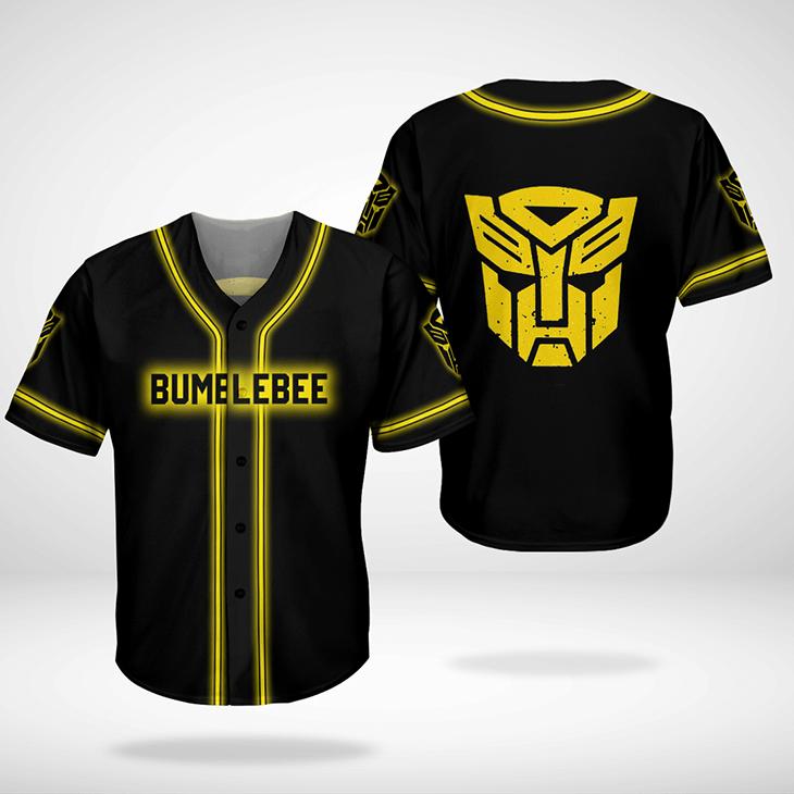 Bumblebee Transformer Baseball Jersey Shirt