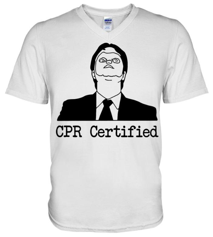 CPRcertifiedunisexv necktee