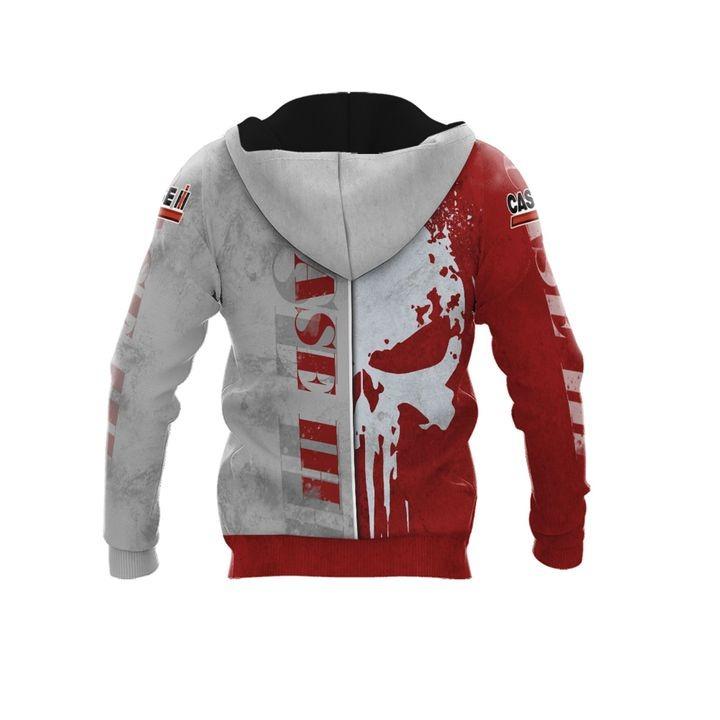 Case IH punisher skull 3d over print hoodie 2 1