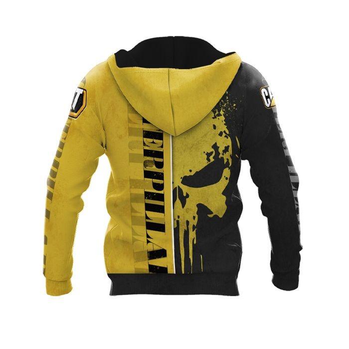 Case IH punisher skull custom name 3d over print hoodie 2