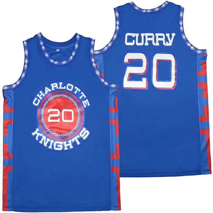 Charlotte 20 Knights Curry 20 Basketball Jerset Shirt