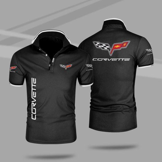 Chevrolet corvette 3d polo shirt 1 1