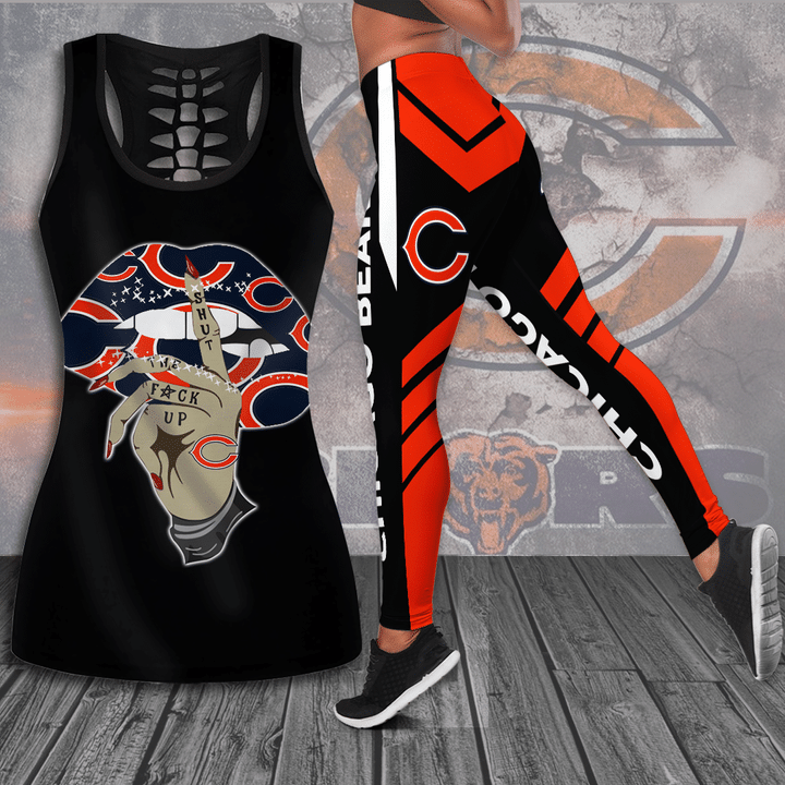 Chicago Bears hollow tank top and legging