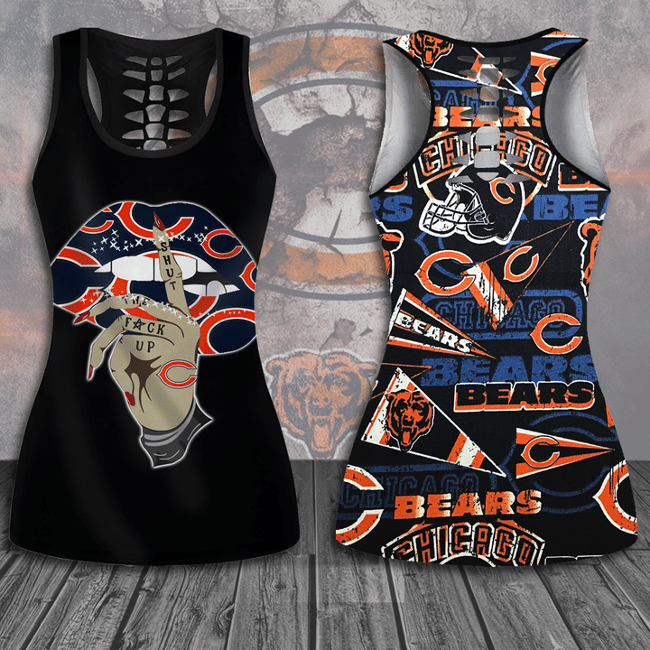 Chicago Bears hollow tank top and legging1