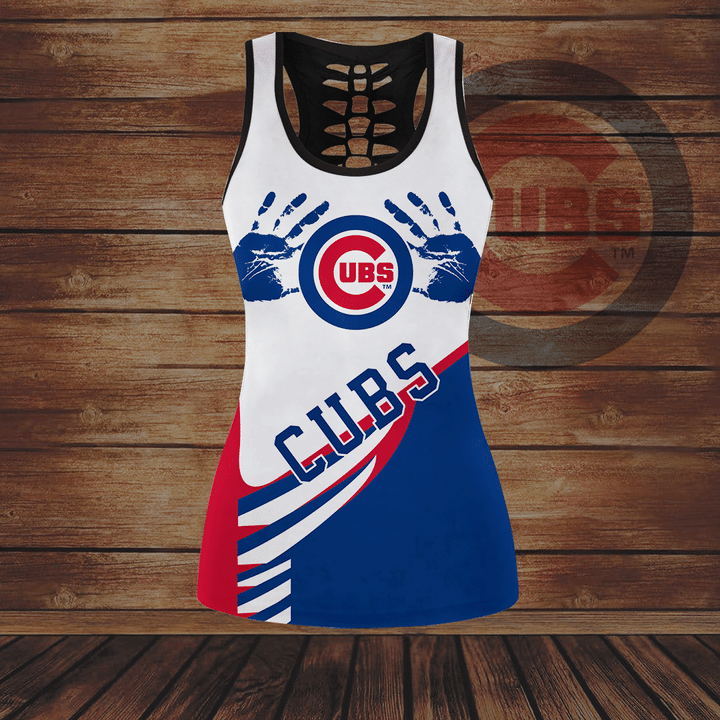 Chicago Cubs hollow Tank Top And Legging Set1