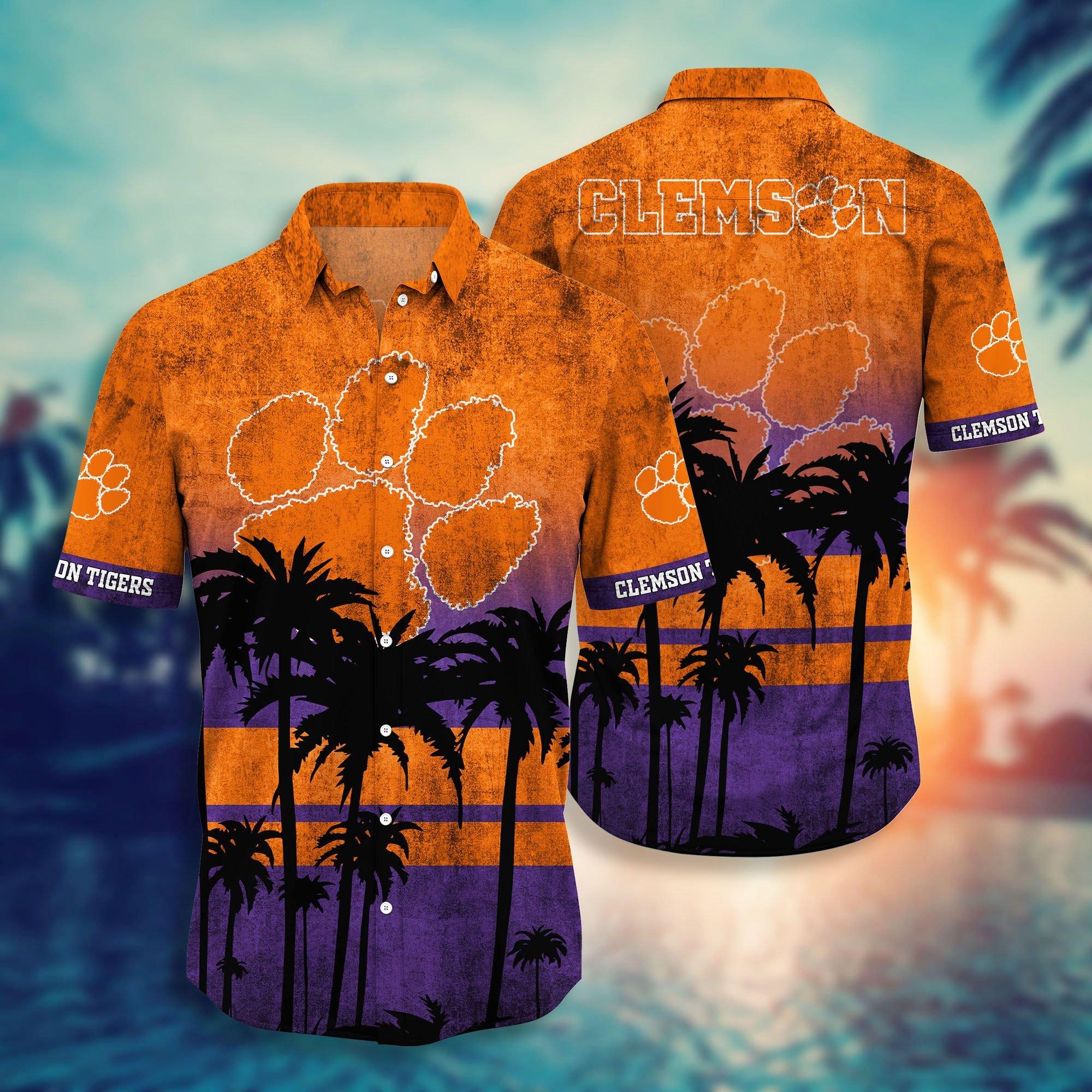 Clemson Tiger NCAA1 hawaiian shirt and short