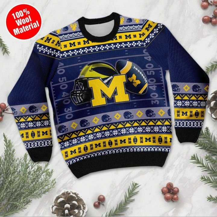 Michigan Wolverines ugly Christmas sweater 2