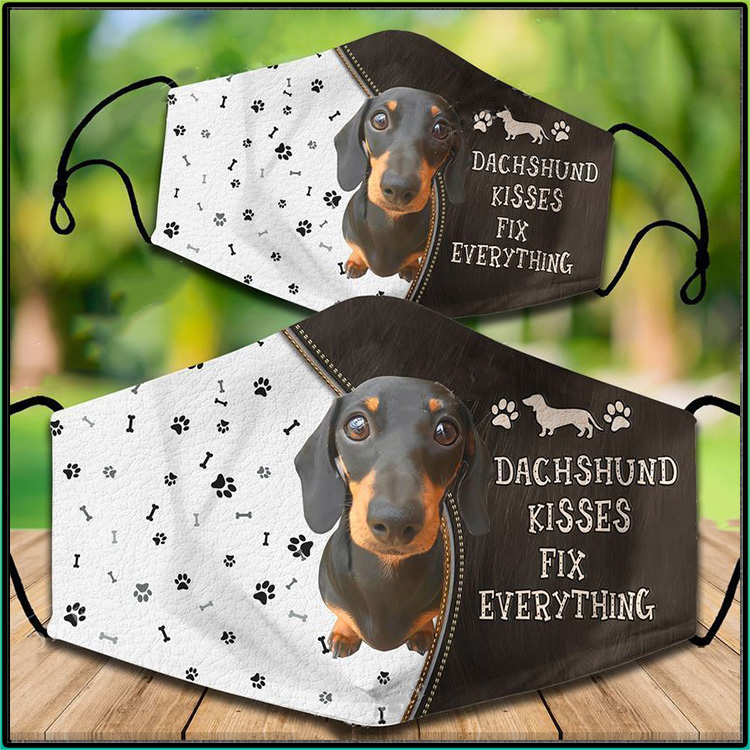 Dachshund Kisses Fix Everything Face Mask1