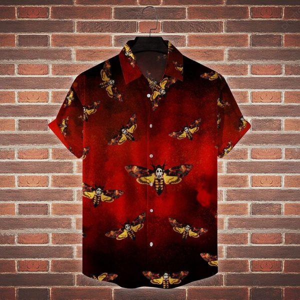 Death Moth The Silence Of The Lamb Horror Movie Hawaiian Shirt