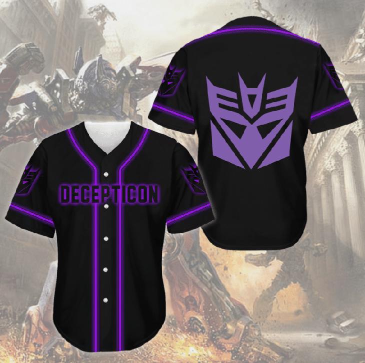 Deceoticon Transformer Baseball Jersey Shirt
