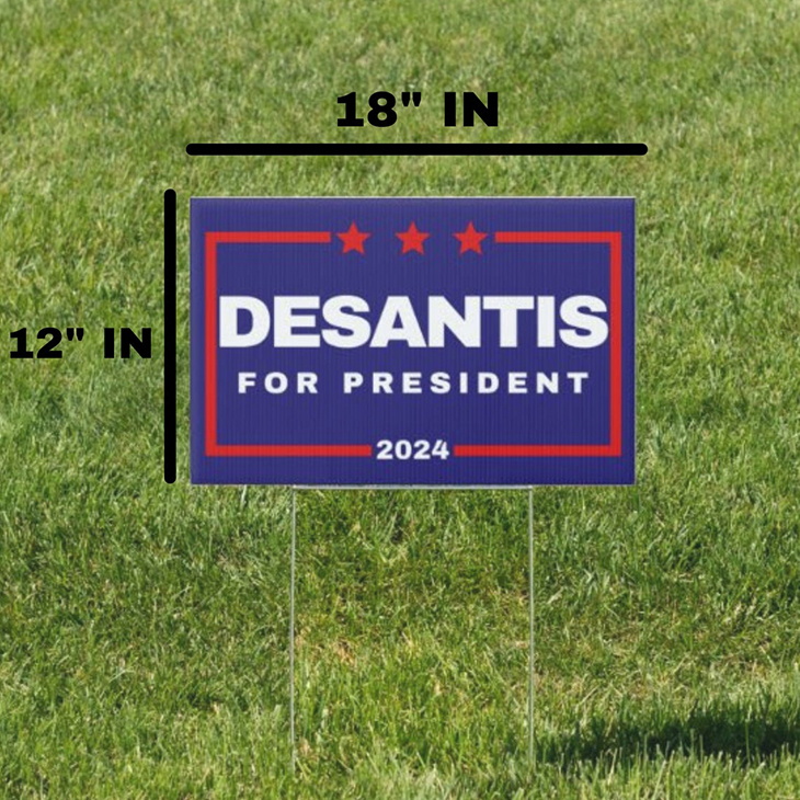Desantis for President 2024 Yard Sign1