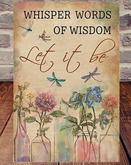 Dragonfly Let It Be Poster
