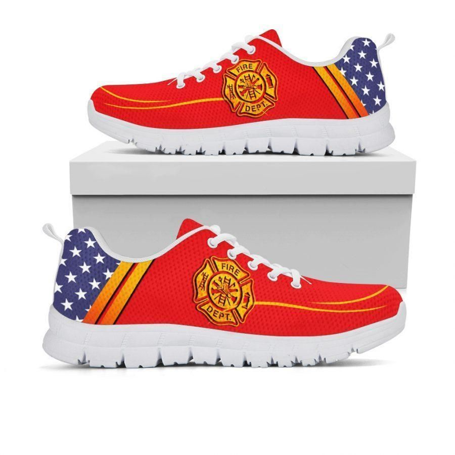 American flag Firefighter sneaker shoes 1