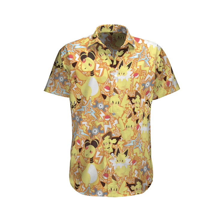 Electric Type Pokemon Hawaiian Shirt