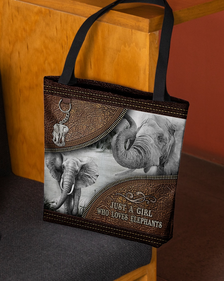 Elephant Just A Girl Who Loves Tote Bag1 1