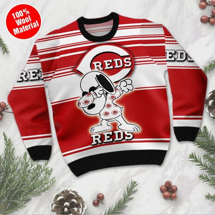 Snoopy Cincinnati Reds For Basebal Sweater 3