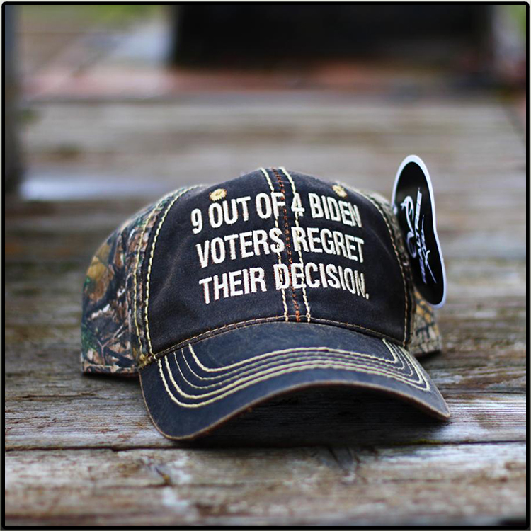9 Out Of 4 Biden Voters Regret Their Decision Hat Cap2
