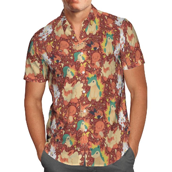 Fire Type Pokemon Hawaiian Shirt1