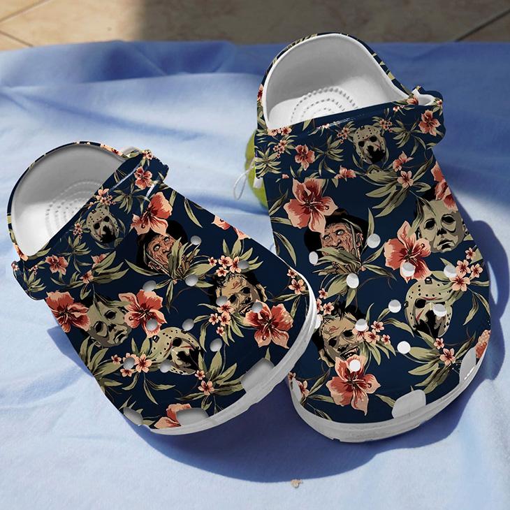 Floral Horror Villians Crocs Crocband Clog