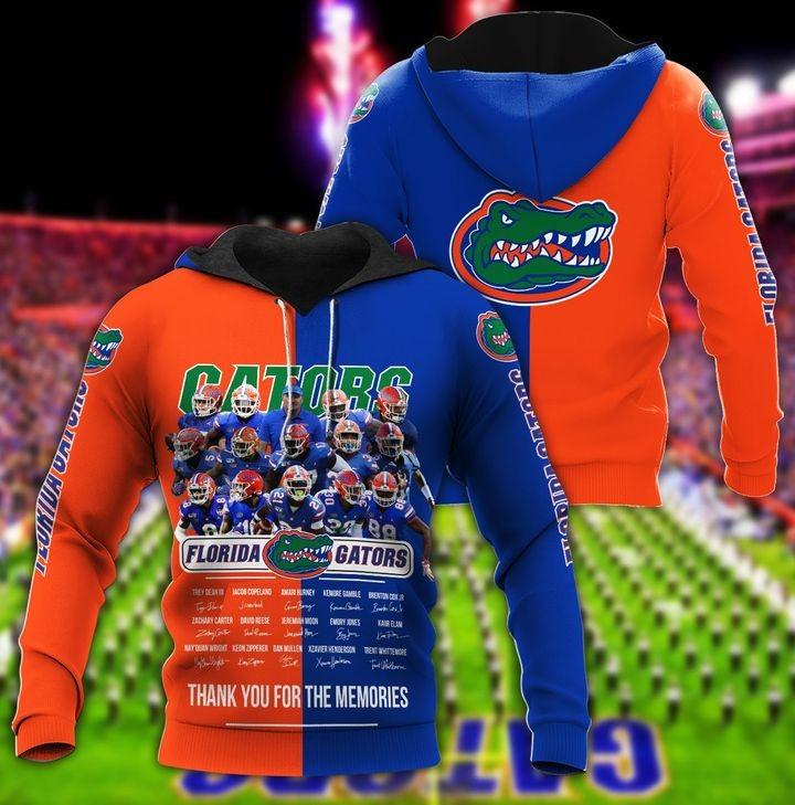 Florida gators thank for the memories hoodie 1