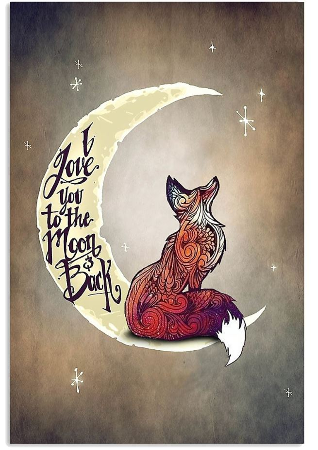 Fox I Love You To The Moon And Back poster